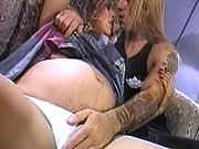 Pregnant girl licked by horny man