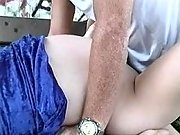 Man fucking pregnant brunette whore
